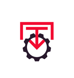 integration icon sign with gear vector image