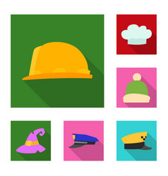 Isolated object of headgear and cap icon vector
