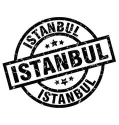 Istanbul black round grunge stamp vector