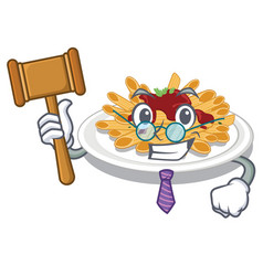 judge pasta isolated with in cartoon vector image