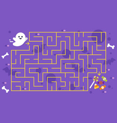 kids halloween game childrens maze vector image