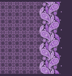 lace paisley vertical seamless pattern vector image
