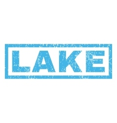 Lake Rubber Stamp vector