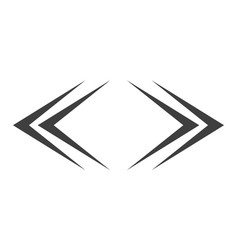 left and right arrows vector image
