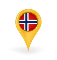 Location Norway vector image