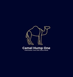 Logo camel hump one line art style vector