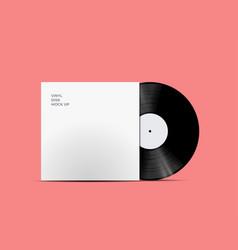 Lp record vinyl disc cover vector