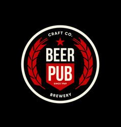Modern craft beer drink logo vector