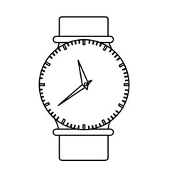 Monochrome silhouette of female wristwatch vector