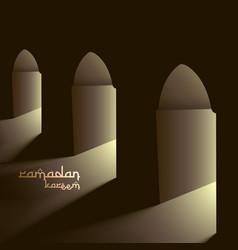 Mosque doors with lights vector