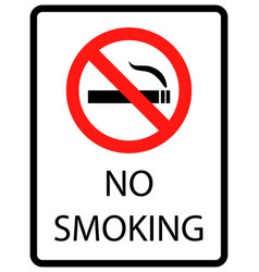No smoking cigarettes sign vector