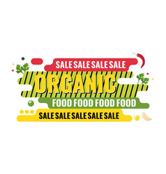 organic food sale web banner geometric graphic vector image