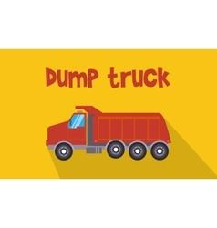 Red dump truck vector
