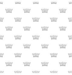 regal crown pattern seamless vector image