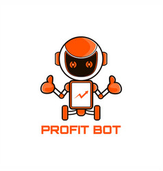 robot marketing mascot vector image