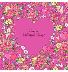 Romantic floral vector