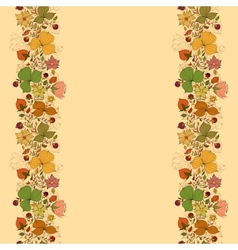 seamless doodle border frame of flowers and vector image