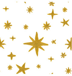 seamless pattern stars vector image