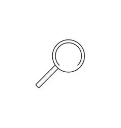 search linear icon vector image