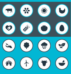 Set of simple energy icons vector