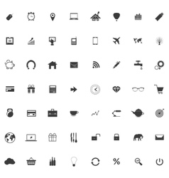 Set or collection of icons for web design vector image