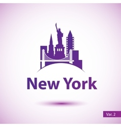 Silhouette of of new york vector