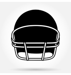 Silhouette symbol of American football helmet vector