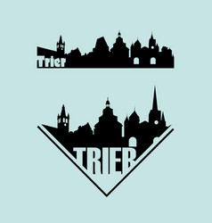 Skylines tourist town trier in germany vector