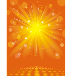 solar background vector image vector image
