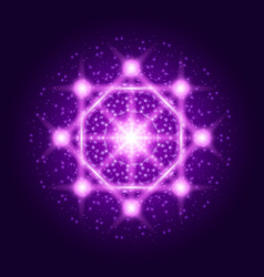 spiritual sacred geometry abstract shine sign vector image
