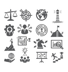 strategy and management icons vector image