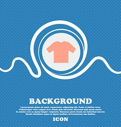 t-shirt sign icon Blue and white abstract vector image