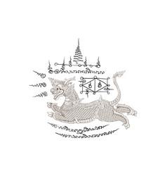 Thai tradition paintingthai tattoo vector