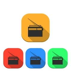The radio icon vector image