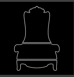 Throne white color path icon vector