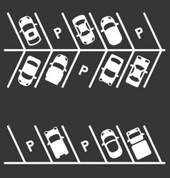 top view of parking lot on white background vector image