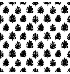 tropical leaf seamless pattern vector image