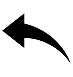 Undo Flat Icon vector