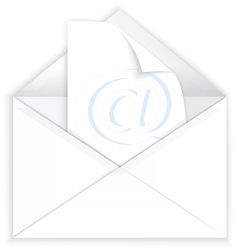 White envelope and watermark paper vector
