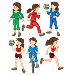 Woman and sport vector image