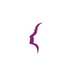 Woman silhouette character vector