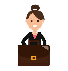 young businesswoman with portfolio vector image