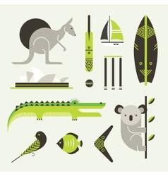 Australia icons vector