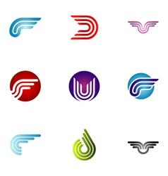 logo design elements set 37 vector image vector image