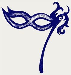 Mask for masquerade costumes vector image vector image
