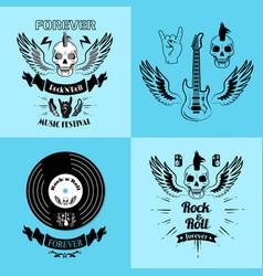 rock n roll forever music fest vector image