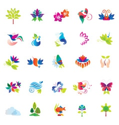 Set of Colorful Design Elements vector image