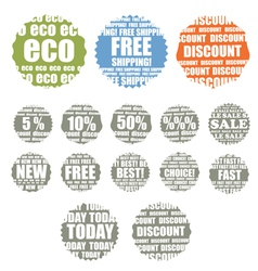 Shopping colorful labels collection vector image vector image