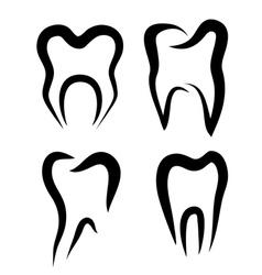 teeth set of symbols vector image vector image