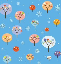 Christmas seamless pattern with trees and vector image